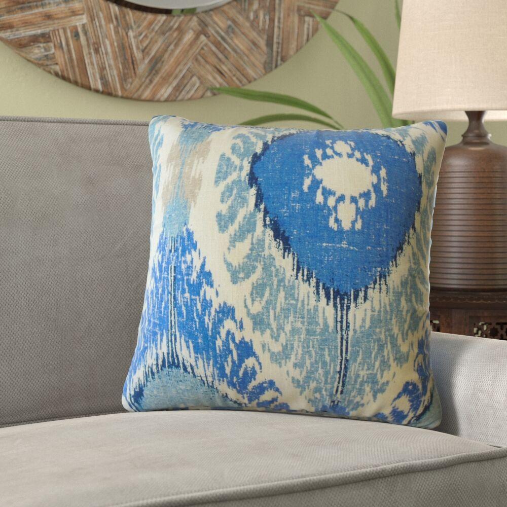 Knight Ikat Linen Pillow Size: 24