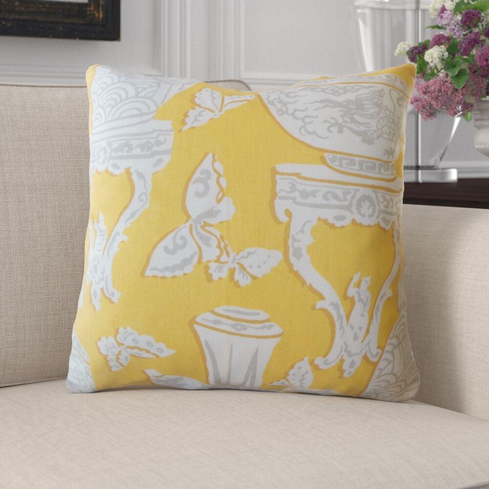 Mercer Graphic Cotton Pillow Size: 22
