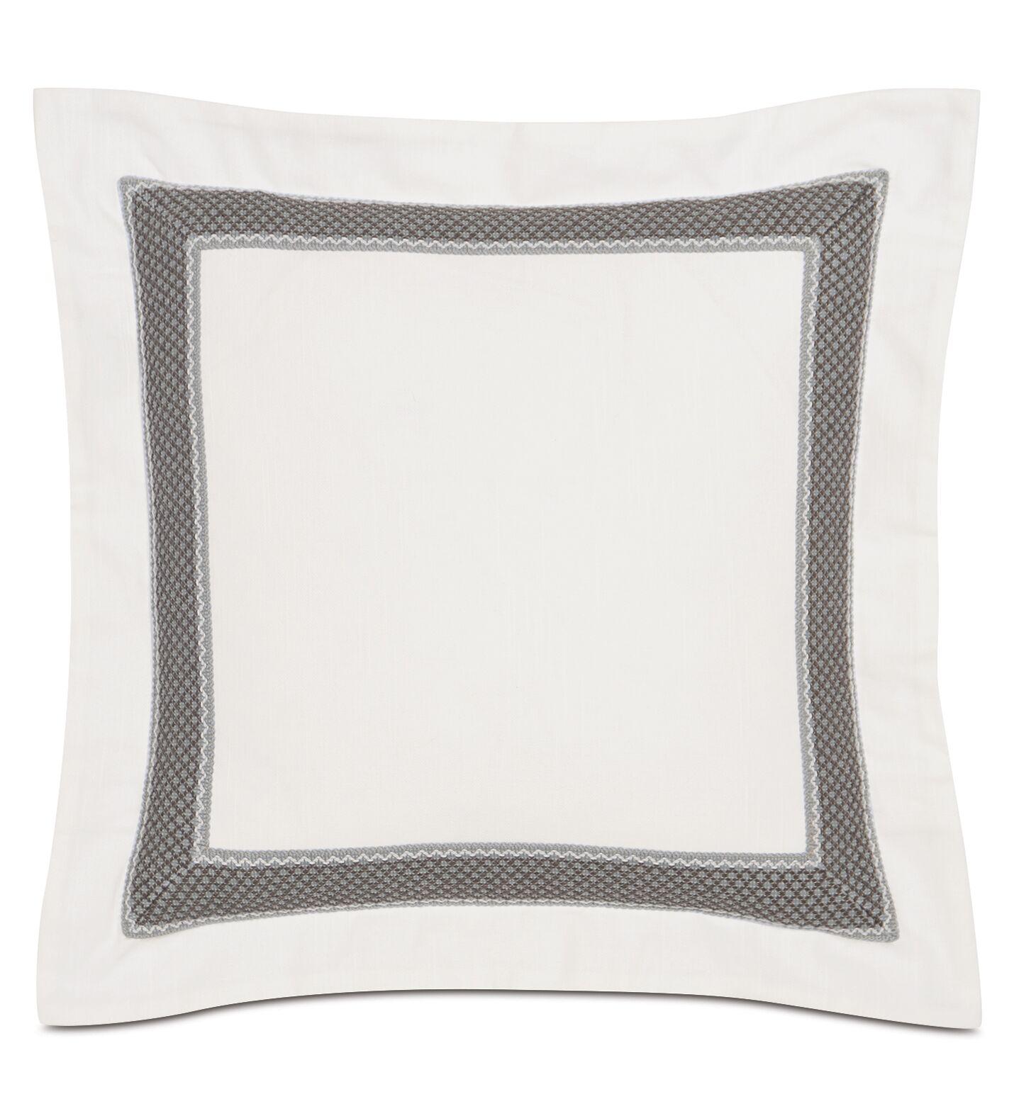Nerida Bordered Cotton Throw Pillow
