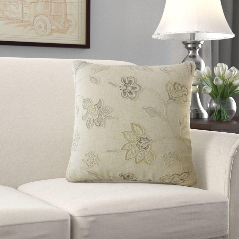 Marceline Floral Pillow Size: 22