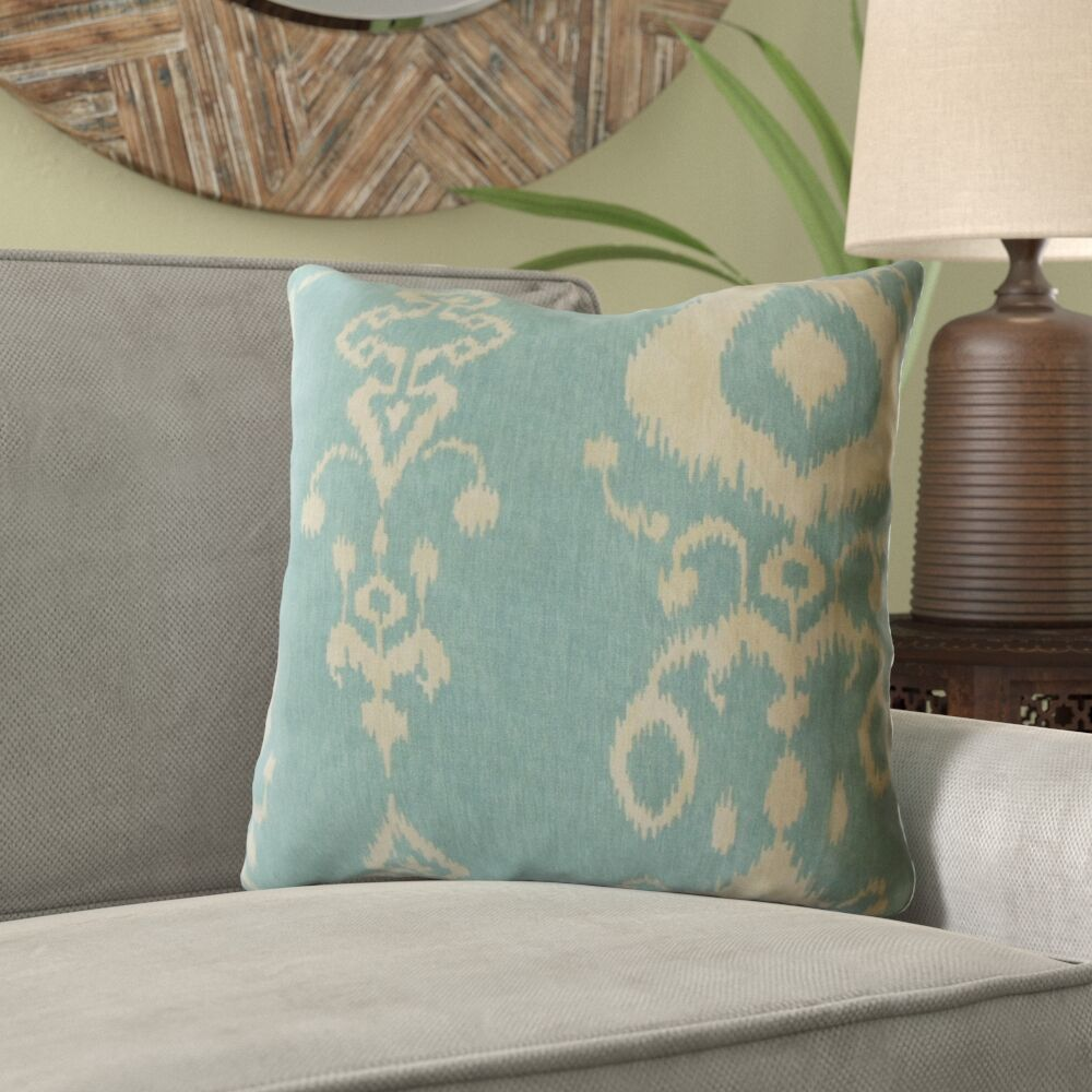Knowles Ikat Cotton Pillow Size: 24