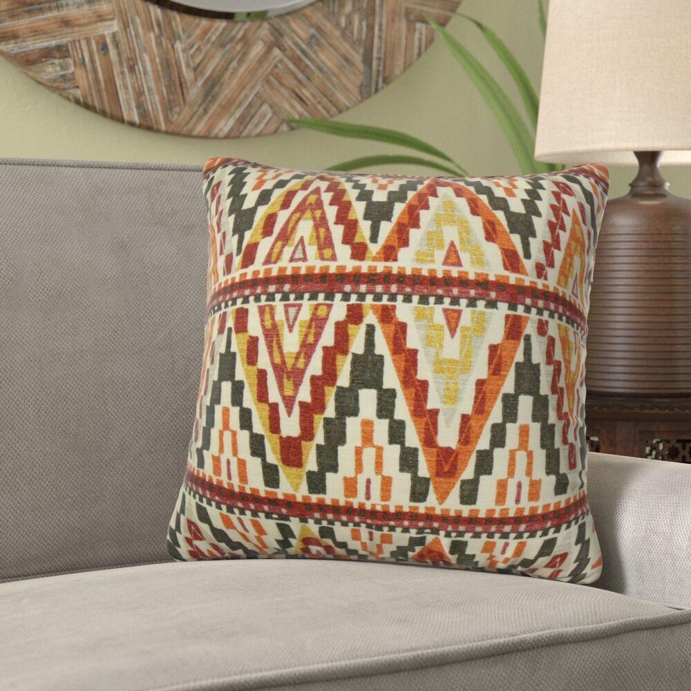 Lackey Geometric Cotton Pillow Size: 22