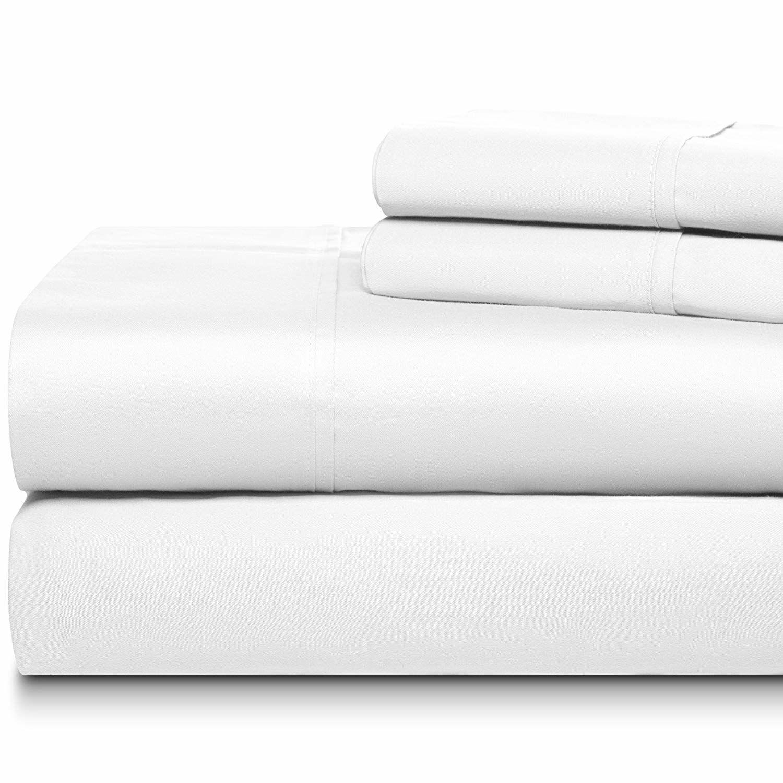 Cheltenham Luxury 1000 Thread Count 100% Cotton Sheet Set Size: King, Color: White