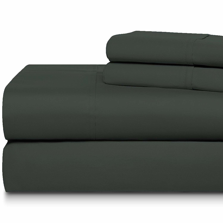 Cheltenham Luxury 1000 Thread Count 100% Cotton Sheet Set Color: Charcoal, Size: King