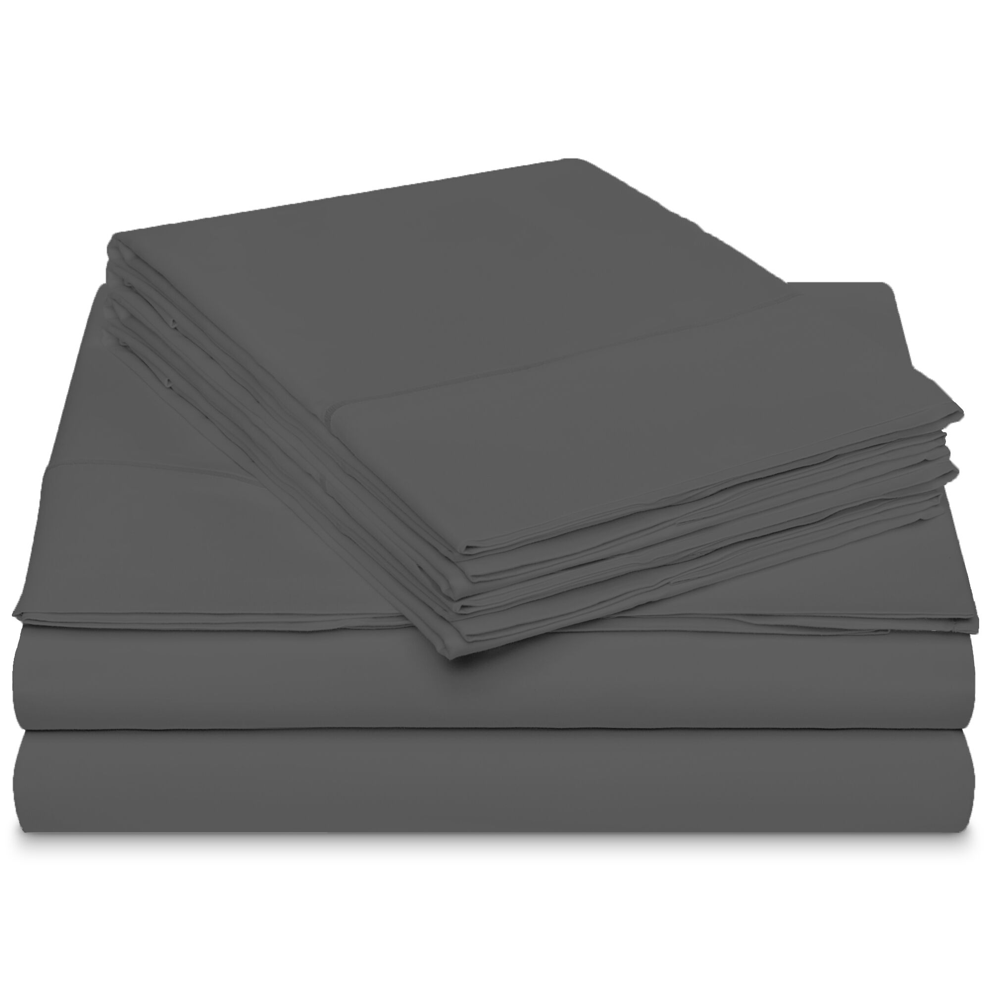 Conley Luxury 800 Thread Count 100% Cotton Sheet Set Color: Charcoal, Size: Queen
