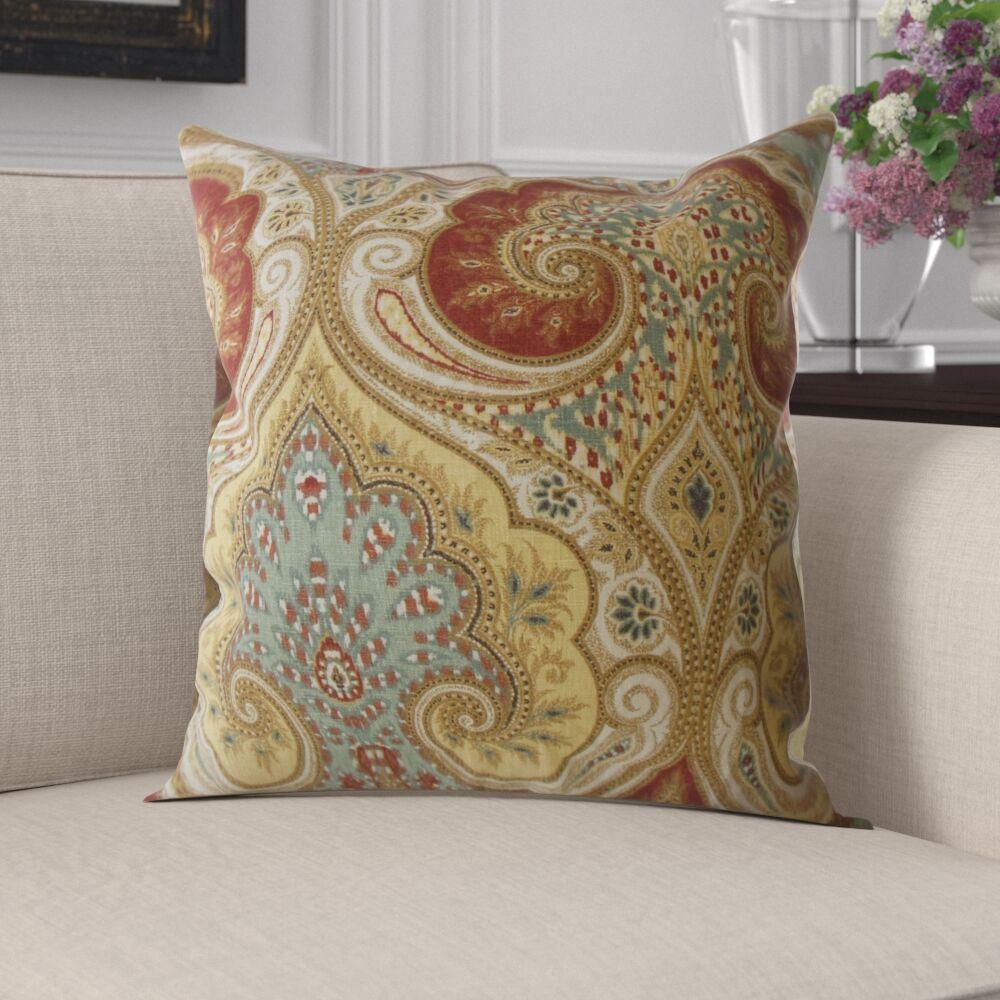 Mercado Damask Linen Pillow Size: 24