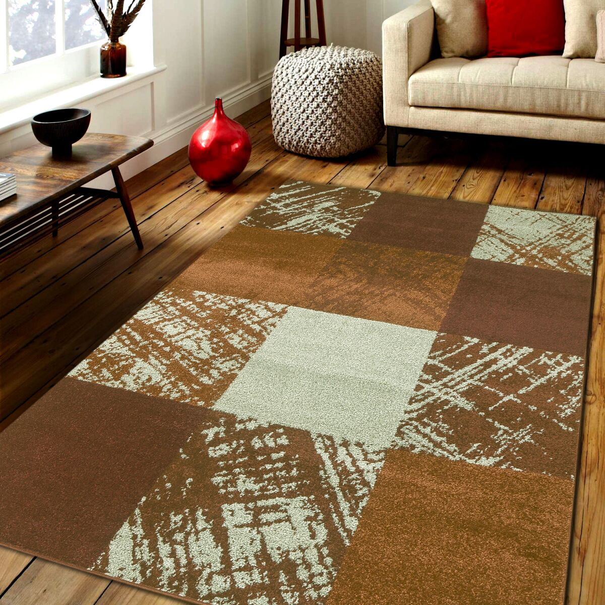 Haxby Brown Area Rug Rug Size: Rectangle 8' x 10'