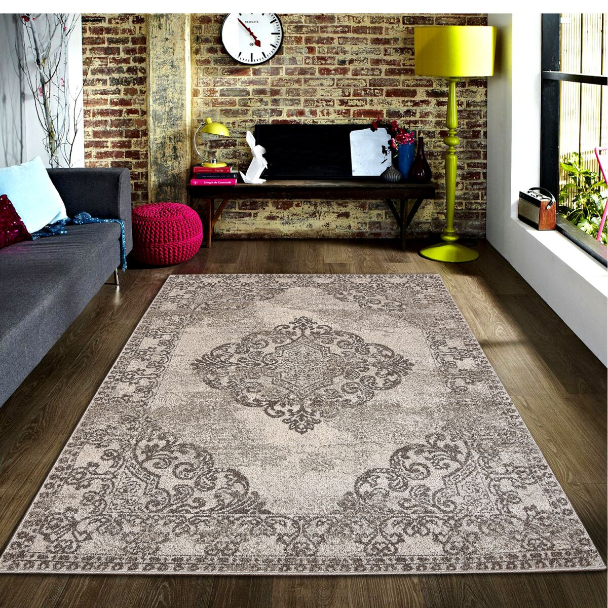 Ruder Brown/Beige Area Rug Rug Size: Rectangle 8' x 10'