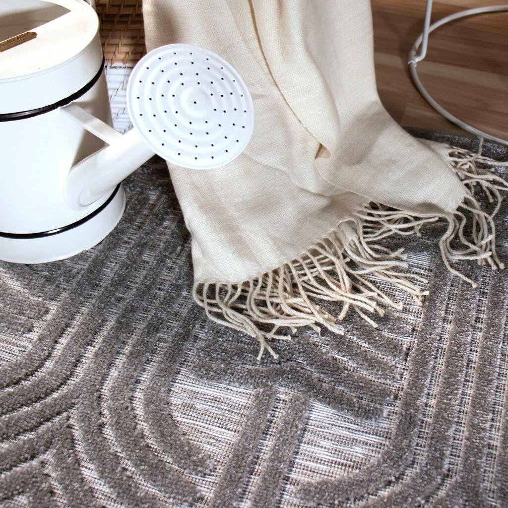 Mabrey Gray Indoor/Outdoor Area Rug Rug Size: Rectangle 5'1