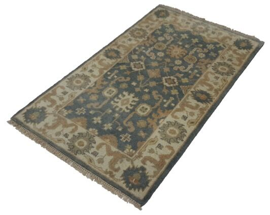 One-of-a-Kind Londyn Oushak Hand-Knotted 3'2