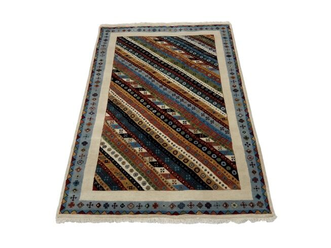 One-of-a-Kind Mentor Gabbeh Hand-Knotted 3'1
