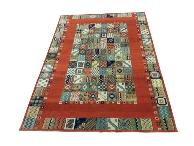 One-of-a-Kind Ayleen Gabbeh Hand-Knotted 6'3
