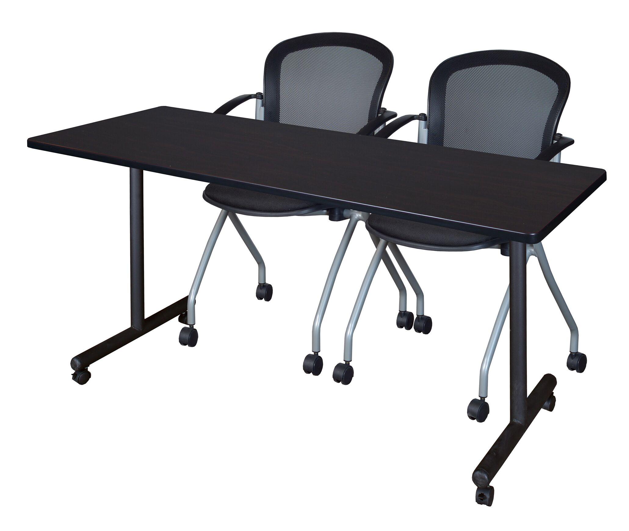 Marin Training Table Tabletop Finish: Mocha Walnut, Size: 29