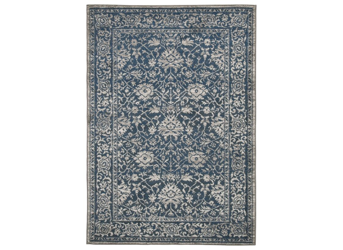 Dowell Blue/Gray Area Rug Rug Size: Rectangle 5' x 7'