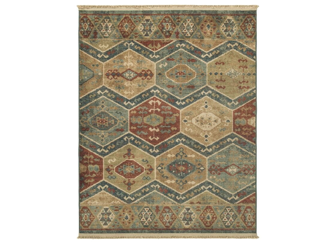 Petro Red/Blue Area Rug Rug Size: Rectangle 5' x 7'