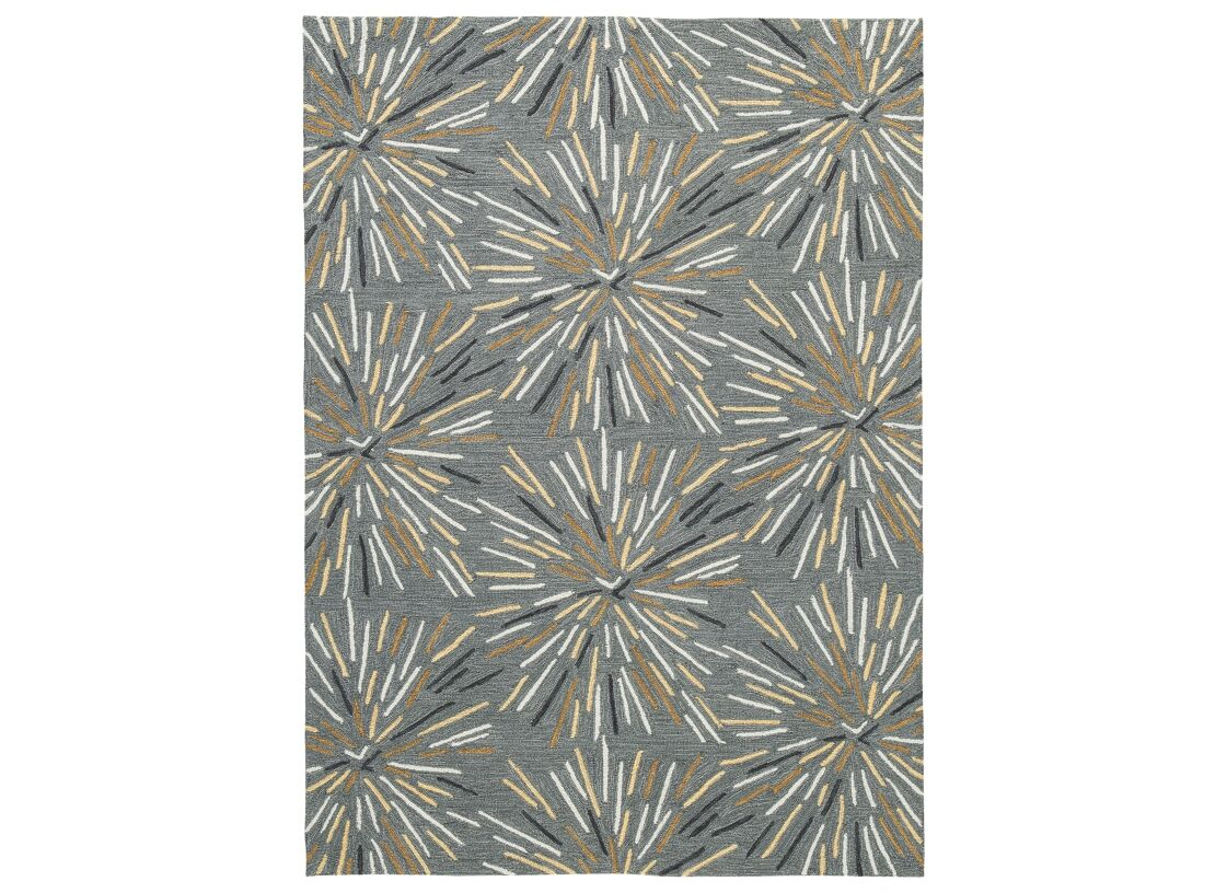 Blackshear Hooked Gray/Yellow Area Rug Rug Size: Rectangle 5' x 7'