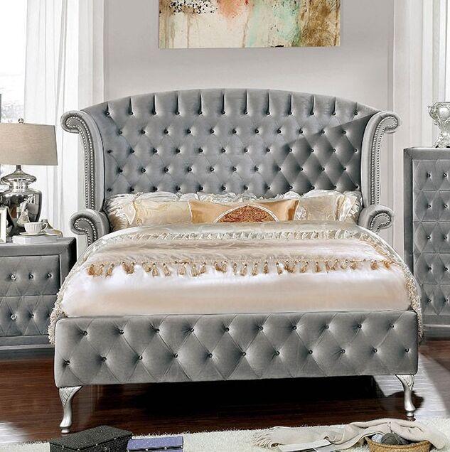 Deangelo Upholstered Platform Bed Size: California King, Color: Gray