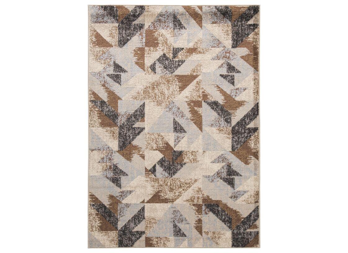 Bivens Brown/Black Area Rug Rug Size: Rectangle 5' x 7'
