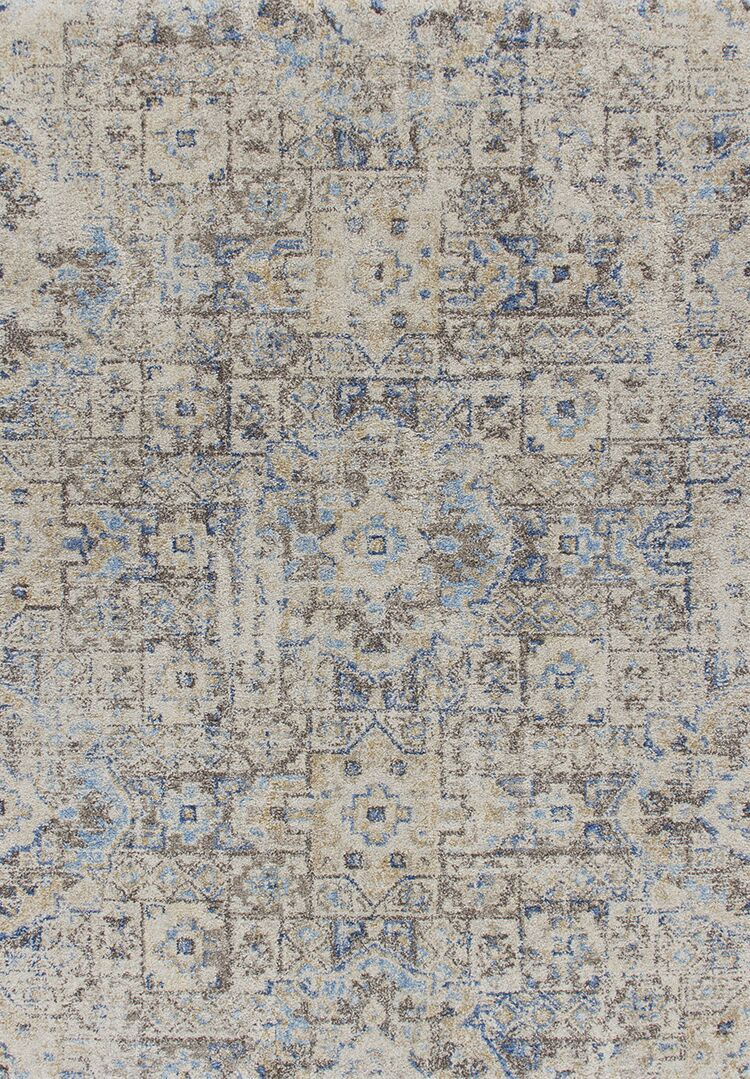 Taylorsville Ivory/Gray/Blue Area Rug Rug Size: Rectangle 3'3