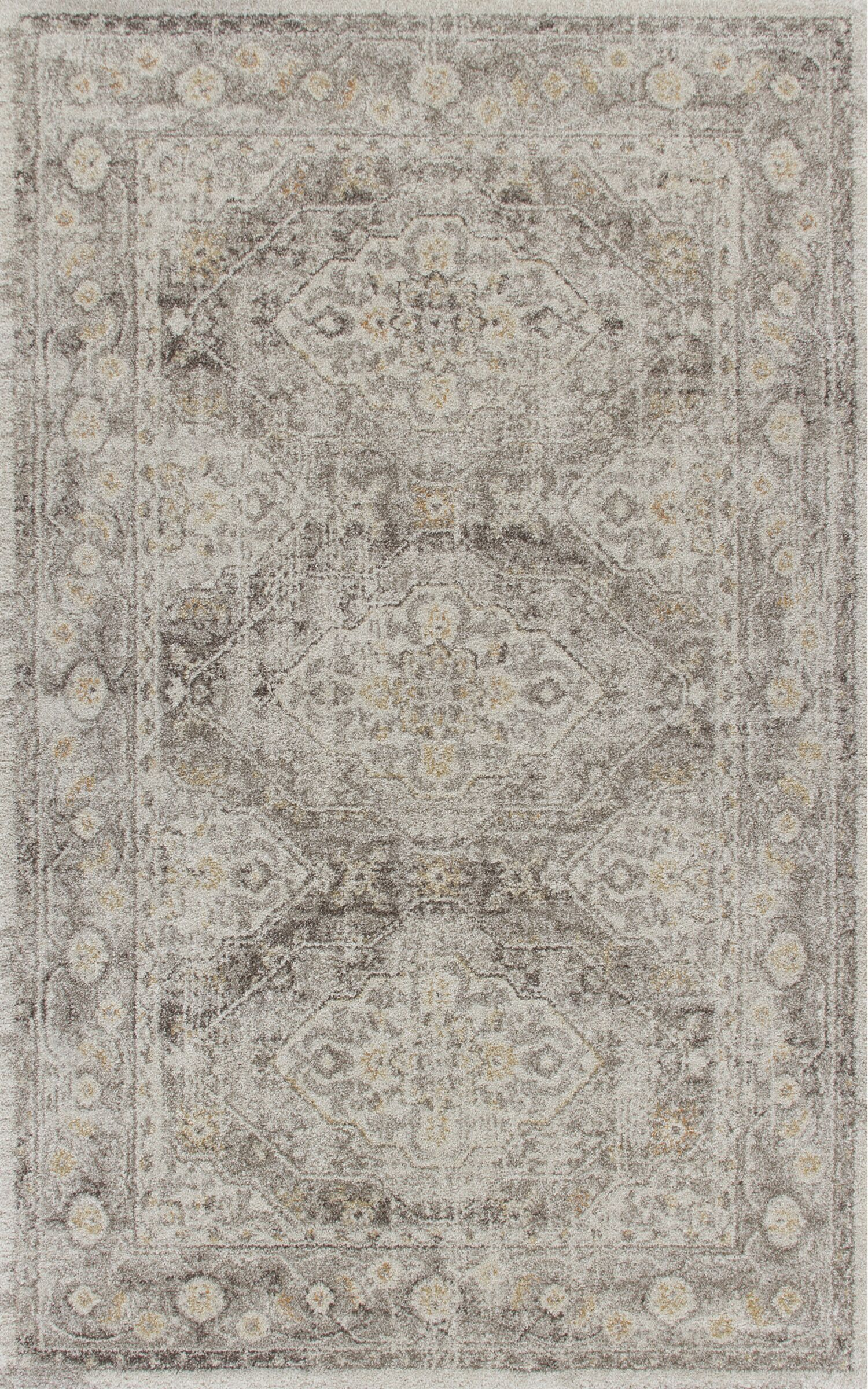 Stonecrest Ivory/Gray Area Rug Rug Size: Rectangle 7'10