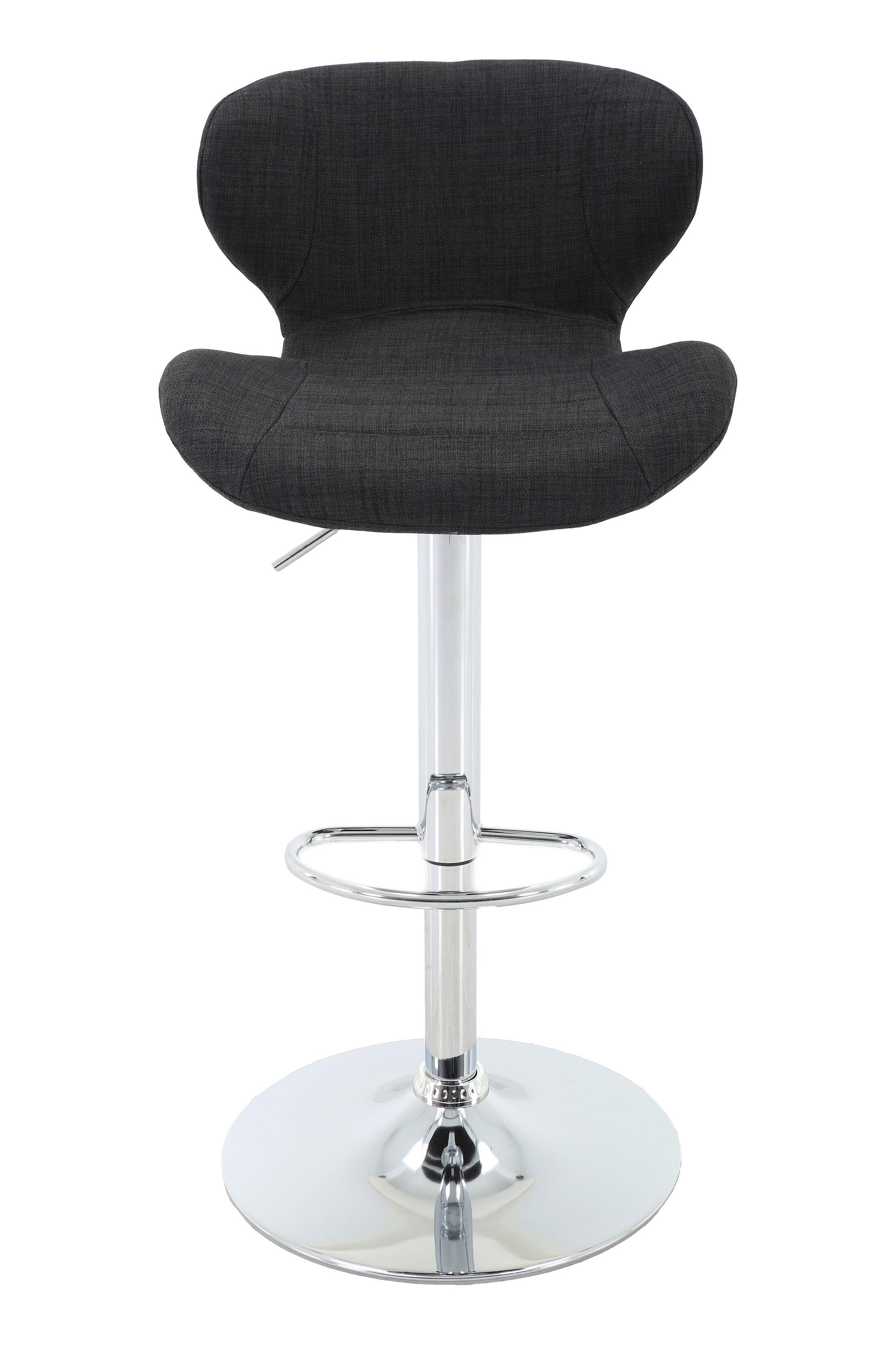 Aadhya Adjustable Height Swivel Bar Stool Color: Charcoal