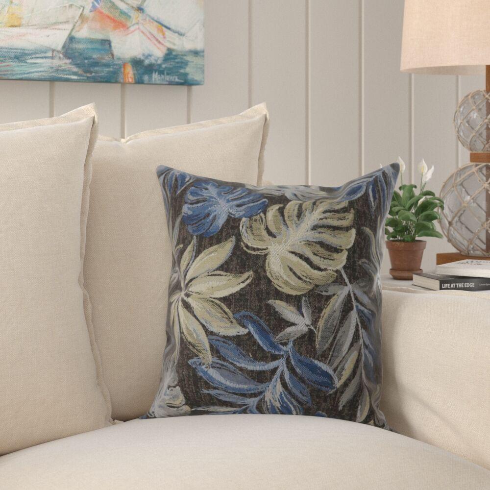 Tharp Contemporary Leaf Throw Pillow Size: 22