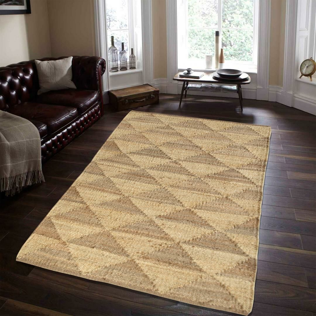 One-of-a-Kind Maliah Pyramid Hand-Knotted 6' x 9' Ivory Area Rug