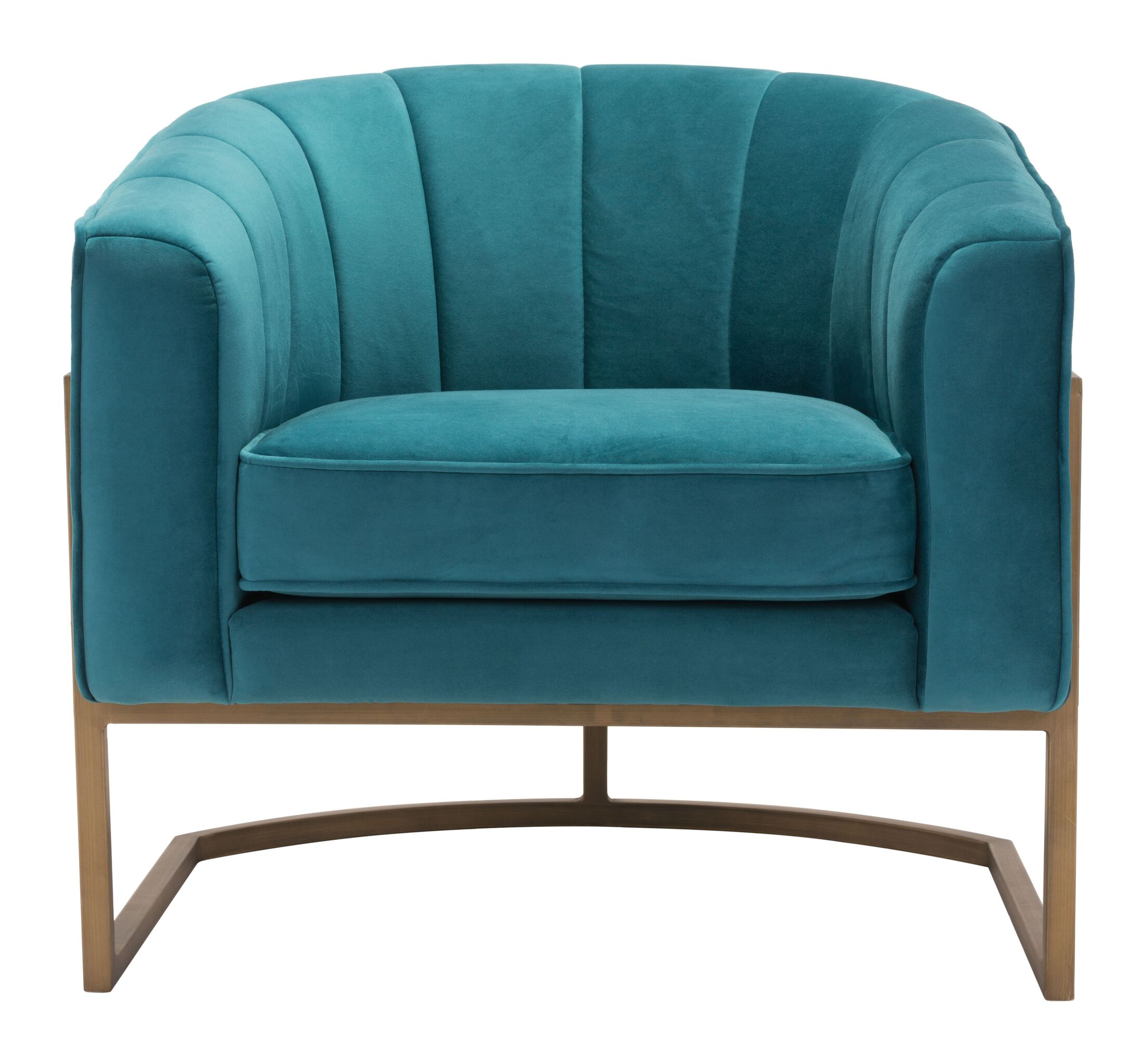 Cranbrook Barrel Chair Upholstery Color: Green