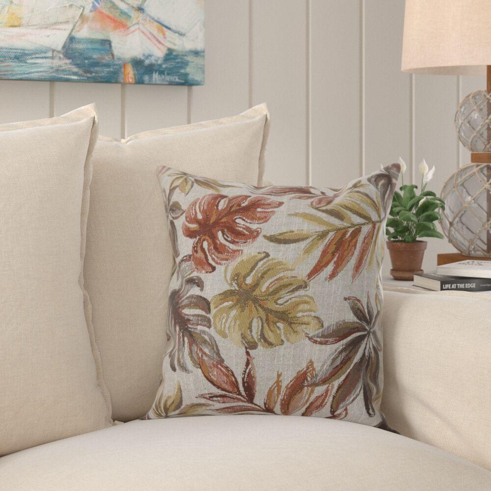 Tharp Contemporary Leaf Throw Pillow Size: 18