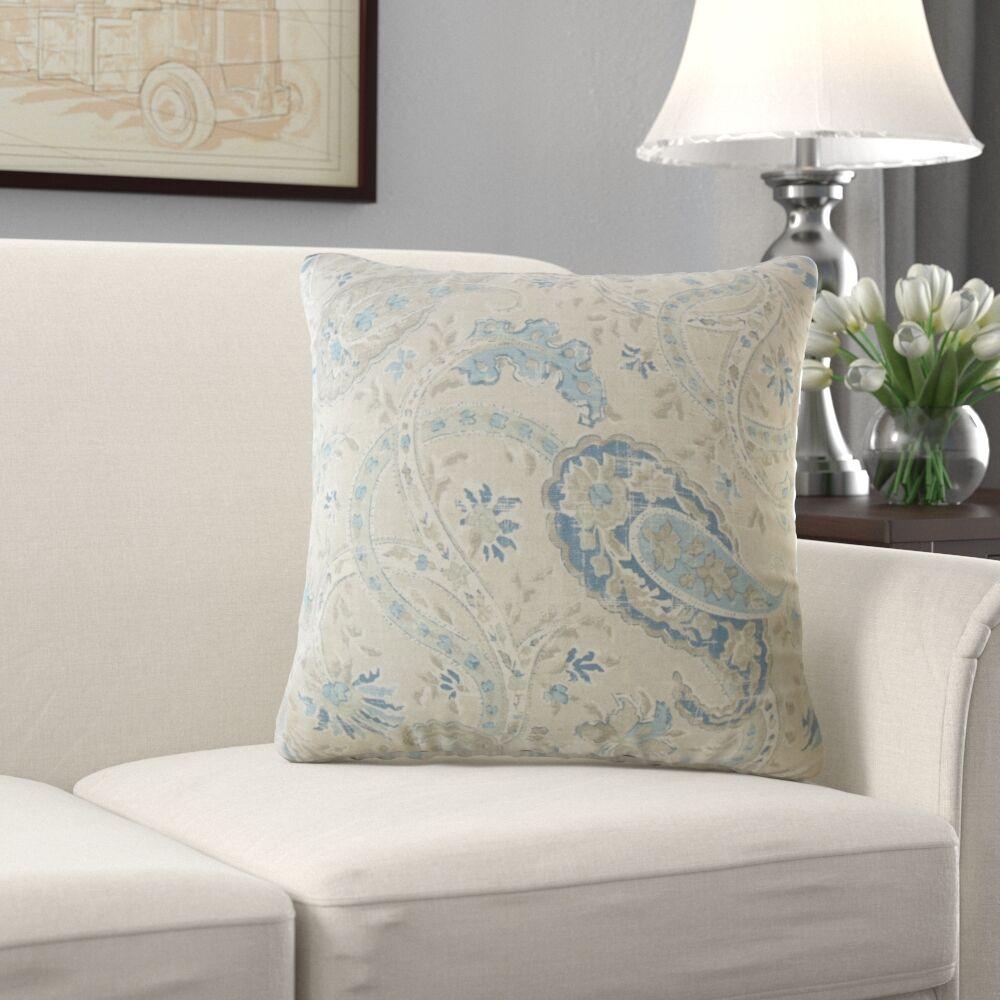 Darlene Paisley Pillow Size: 20