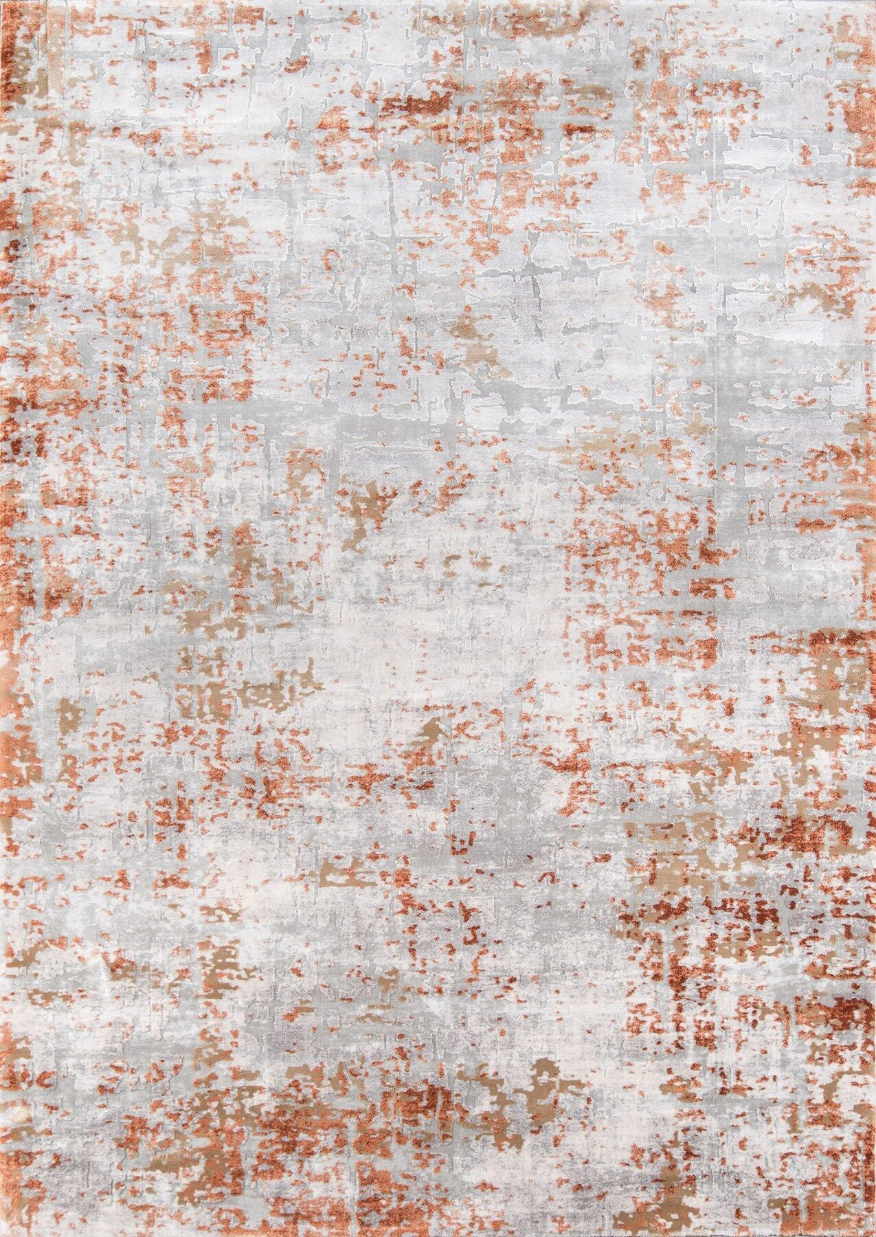 Exmouth Copper/Gray Area Rug Rug Size: Rectangle 5' x 7'6