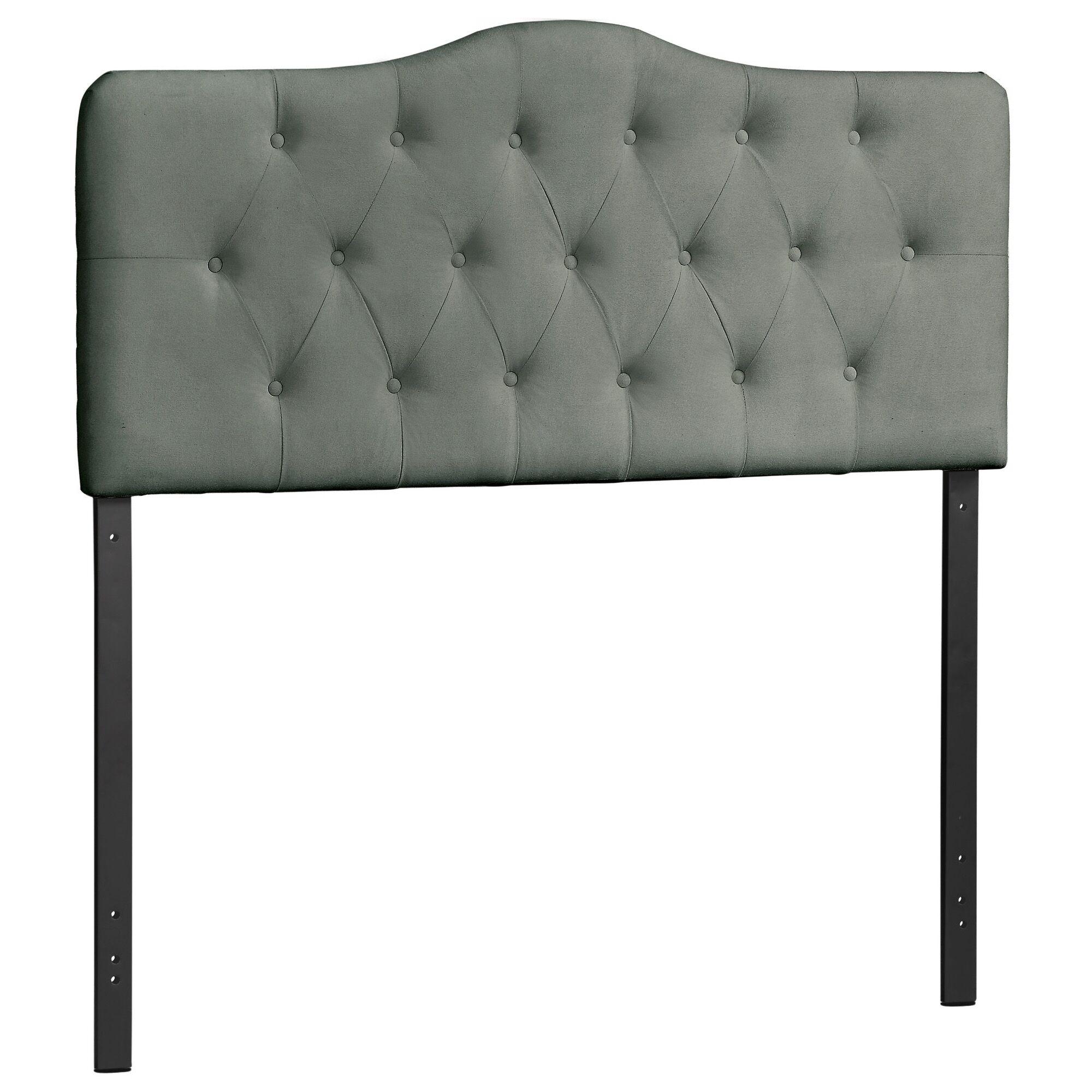 Vilonia Upholstered Panel Headboard Size: Full, Upholstery: Gray