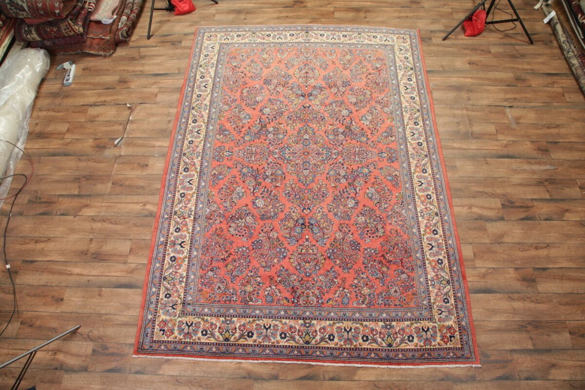 One-of-a-Kind Nieman Sarouk Persian Hand-Knotted 8'7