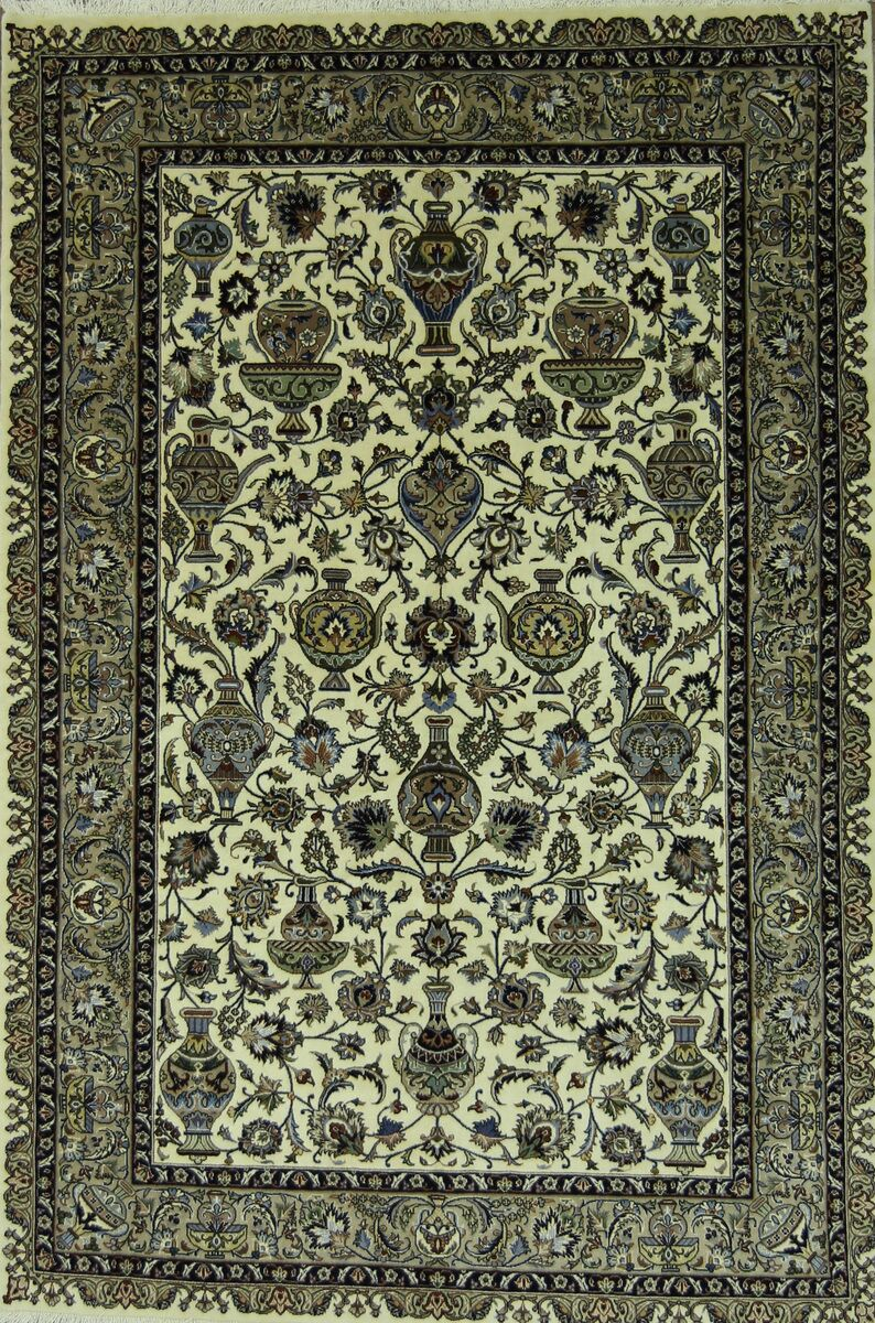 One-of-a-Kind Echeverria Kashmar Persian Hand-Knotted 6'5