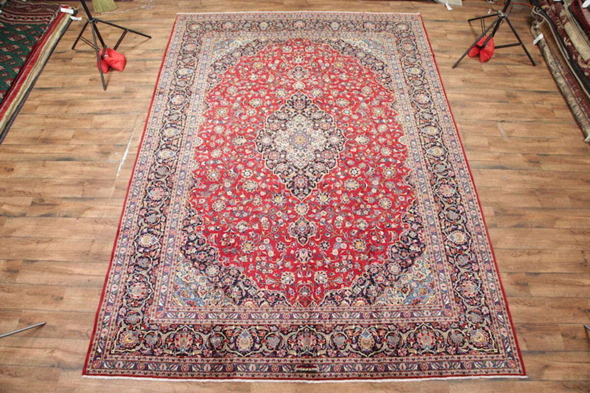 One-of-a-Kind Niemann Classical Kashan Persian Traditional Hand-Knotted 10'4