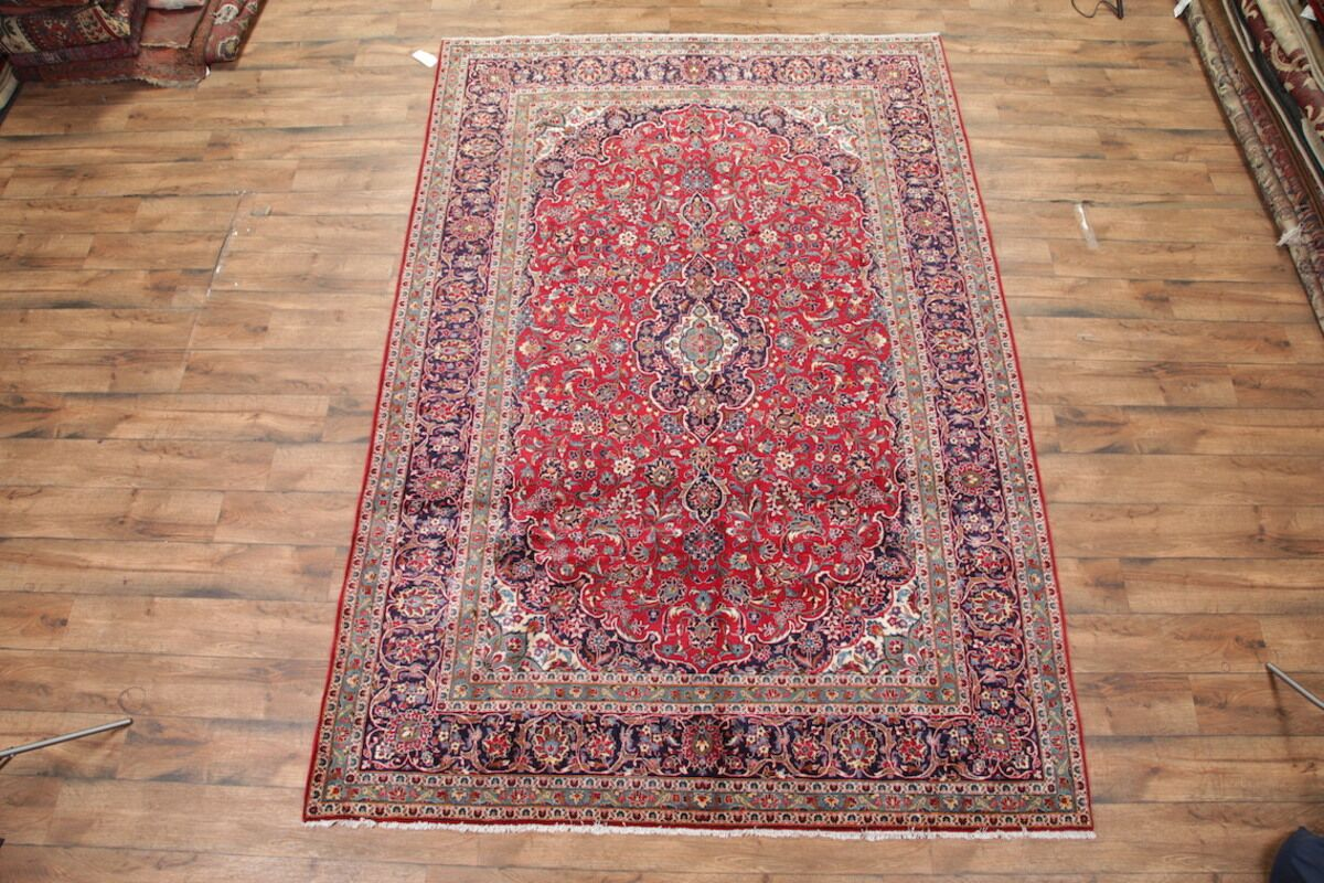 One-of-a-Kind Gentle Kashan Persian Hand-Knotted 8'2