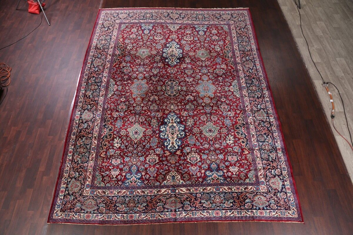 One-of-a-Kind Kerman Traditional Persian Hand-Knotted 9'10