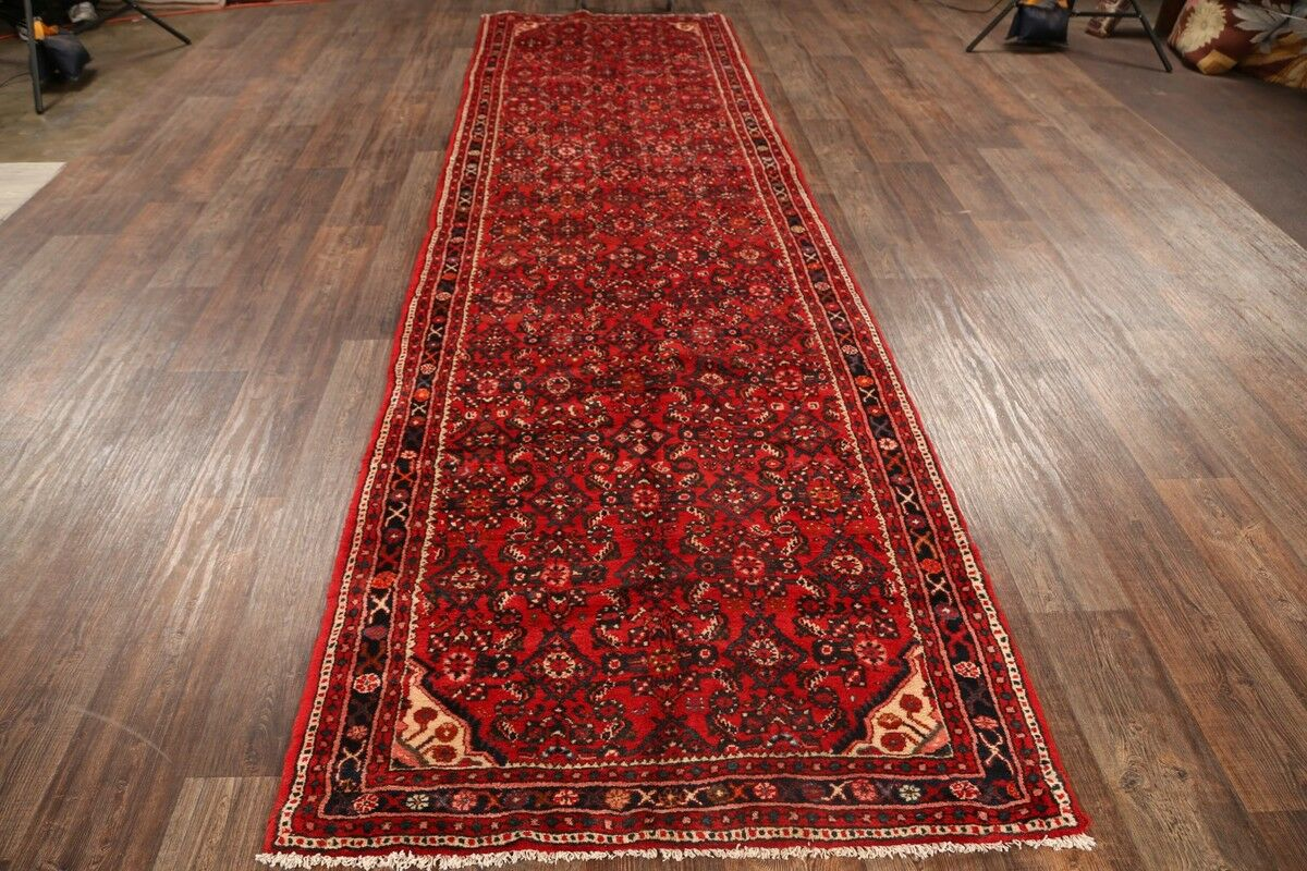 One-of-a-Kind Hossainabad Classical Hamedan Persian Hand-Knotted 3'11