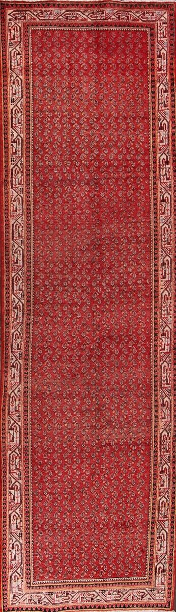 One-of-a-Kind Botemir Boteh Persian Hand-Knotted 3'7