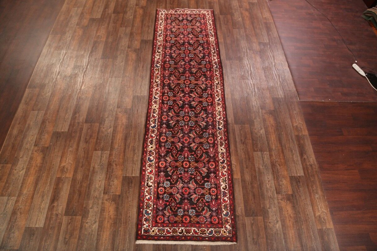 One-of-a-Kind Traditional Malayer Hamedan Persian Hand-Knotted 3'6