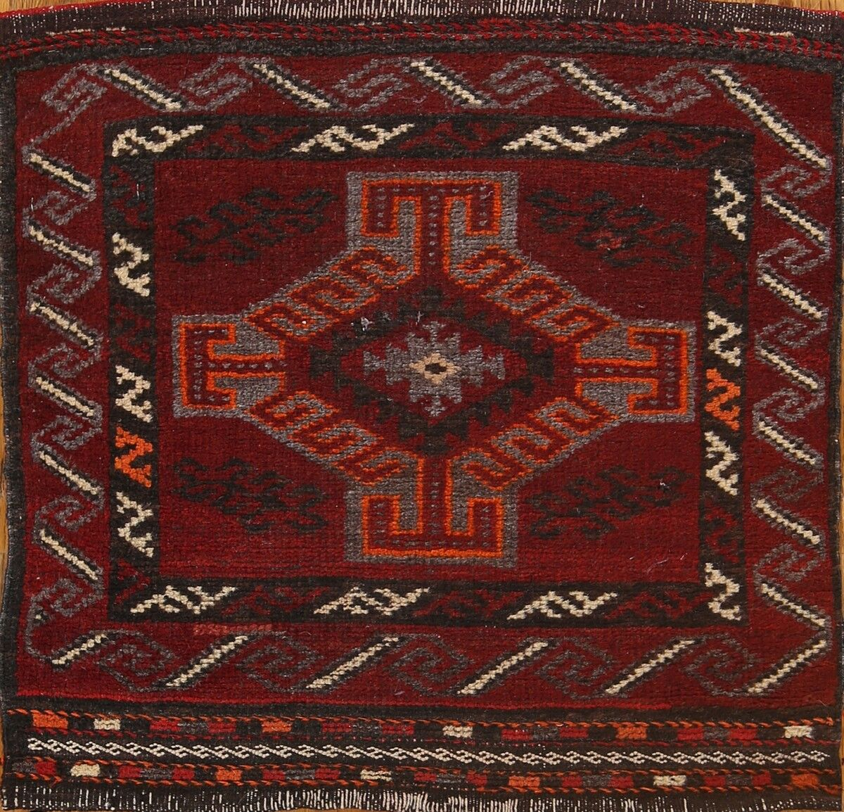 One-of-a-Kind Classical Balouch Traditional Persian Hand-Knotted 1'8