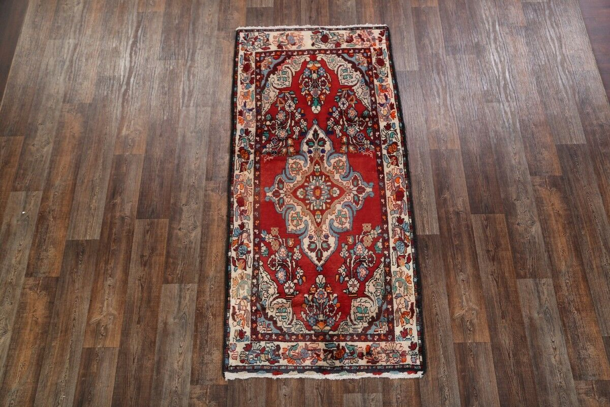 One-of-a-Kind Lilian Hamedan Persian Hand-Knotted 3'8