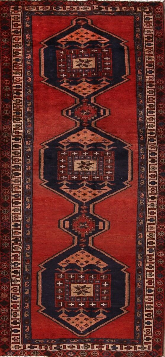 One-of-a-Kind Gilreath Classical Meshkin Persian Hand-Knotted 3'9