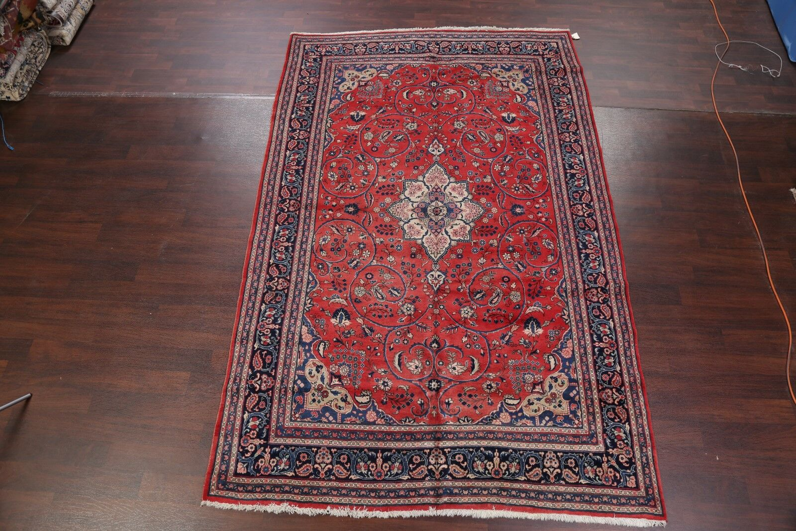 One-of-a-Kind Traditional Bidjar Persian Hand-Knotted 7' x 10'10