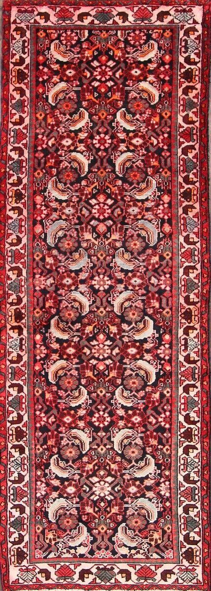 One-of-a-Kind Given Hamadan Persian Hand-Knotted 3'5