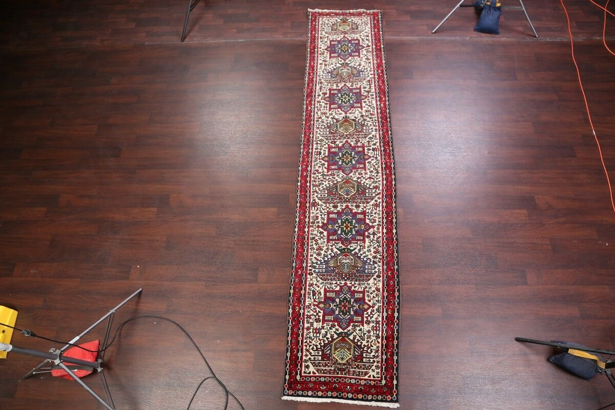 One-of-a-Kind Fouts Classical Gharajeh Heriz Persian Hand-Knotted 2'8