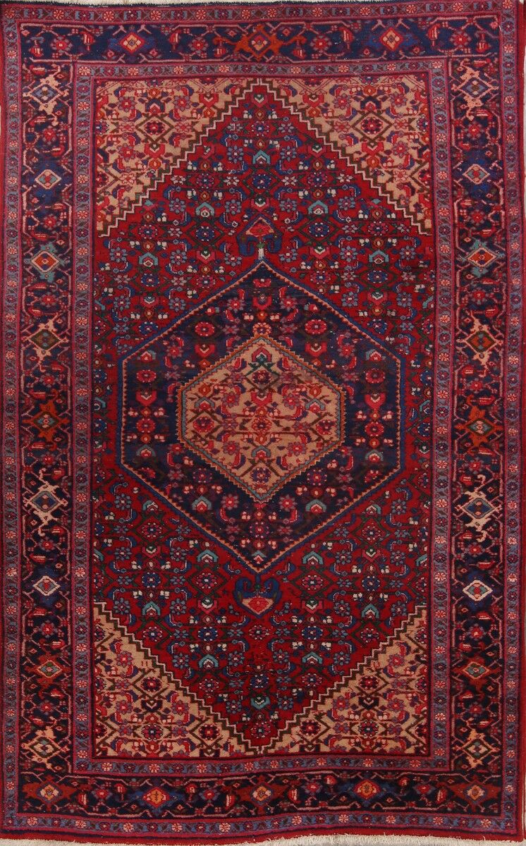 One-of-a-Kind Traditional Ardebil Tabriz Persian Hand-Knotted 4'3