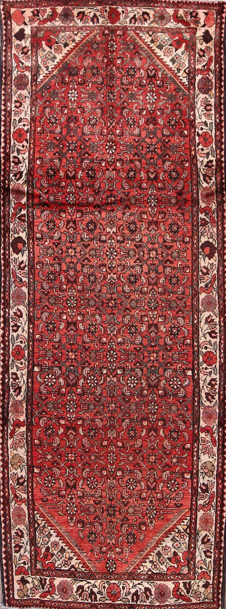 One-of-a-Kind Traditional Hamedan Persian Hand-Knotted 3'9