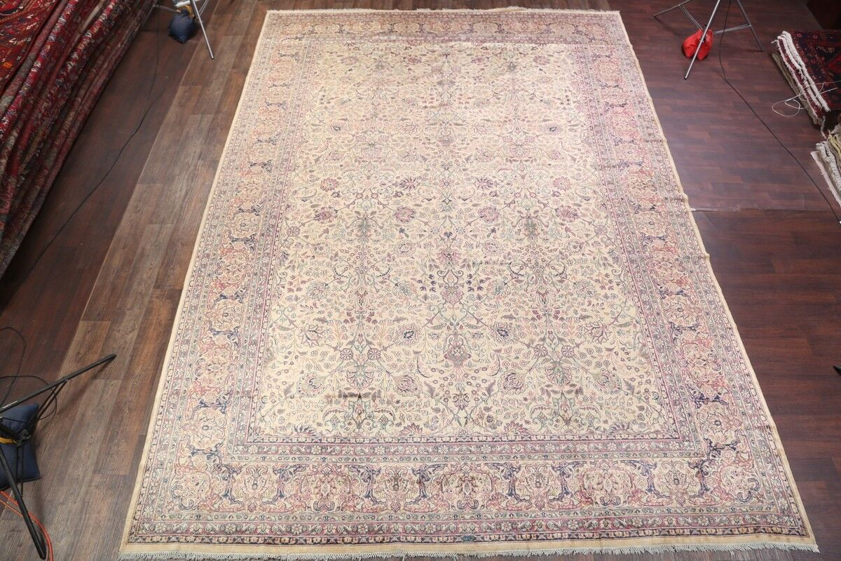 One-of-a-Kind Kerman Persian Hand-Knotted 11'6
