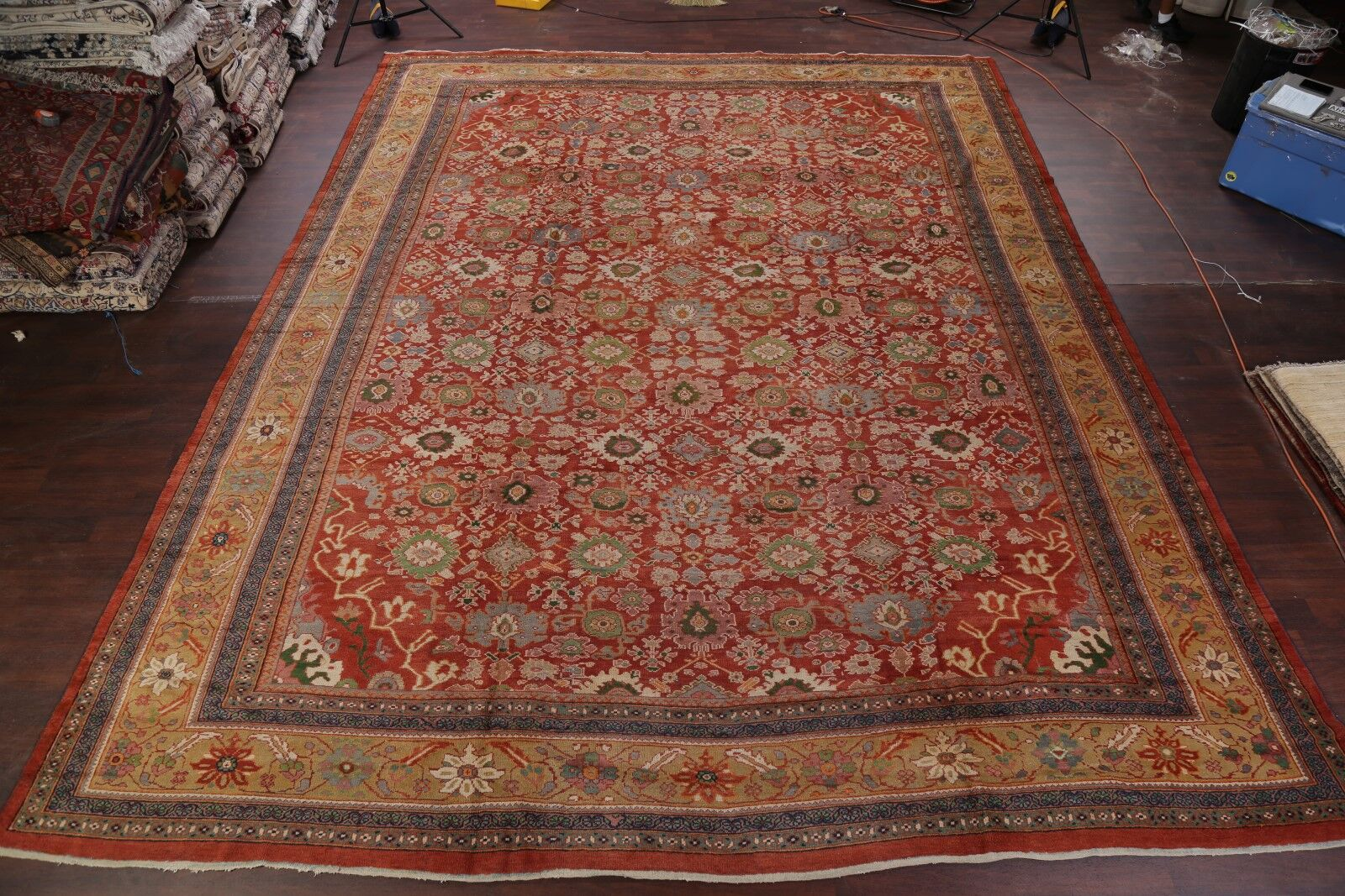 One-of-a-Kind Palace Pre Sultanabad Mahal Ziegler Persian Hand-Knotted 13'7